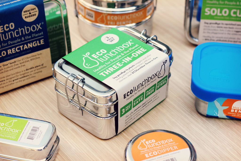 Brotdose Edelstahl EcoLunchbox in Verpackung
