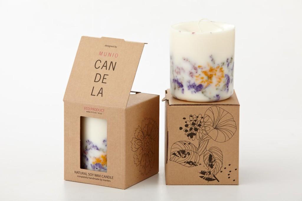 Bio Kerzen aus Sojawachs von Candela in Pappverpackung