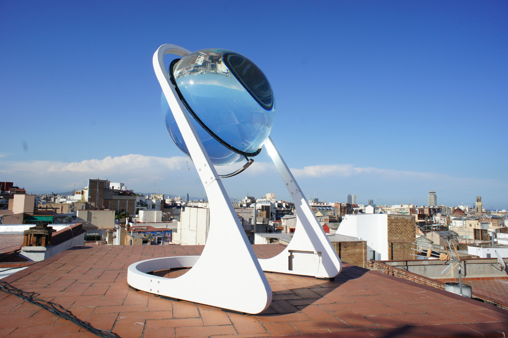 RAwlemon kugelförmige Glas Solaranlage RAWLEMON auf Dach