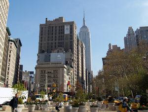 Stadtbild in der Großstadt