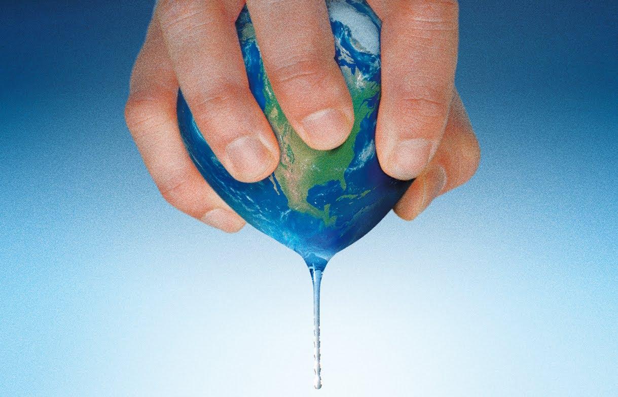 Die Wasser Recourcen der Erde werden durch den Menschen ausgebeutet
