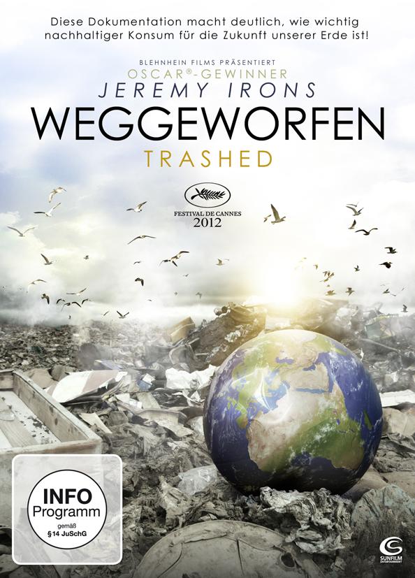 DVD Cover des Films, Erdball liegt verkleinert dargestellt auf Müllberg
