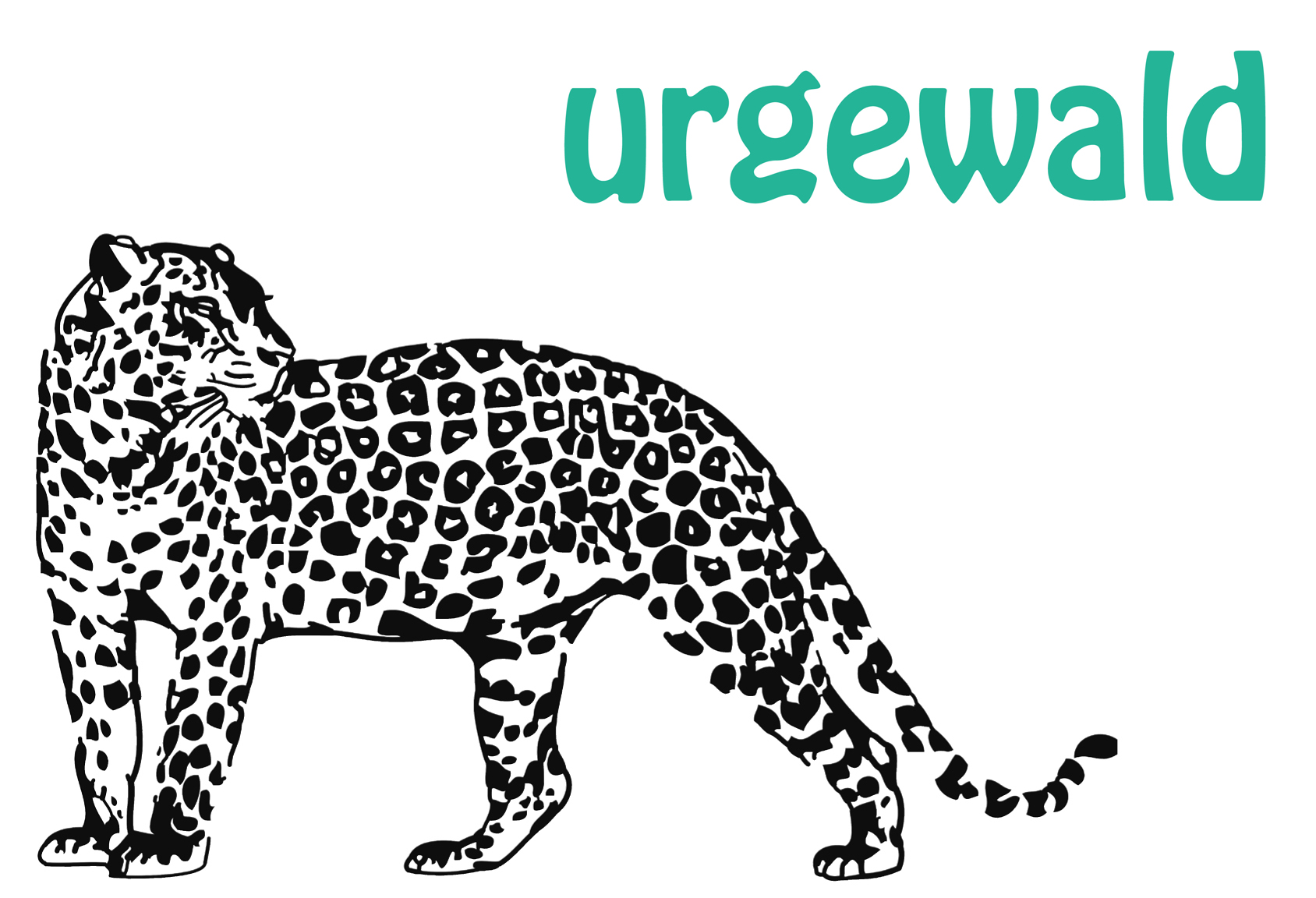 ein Leopard ziert das Logo des Vereins Urgewald