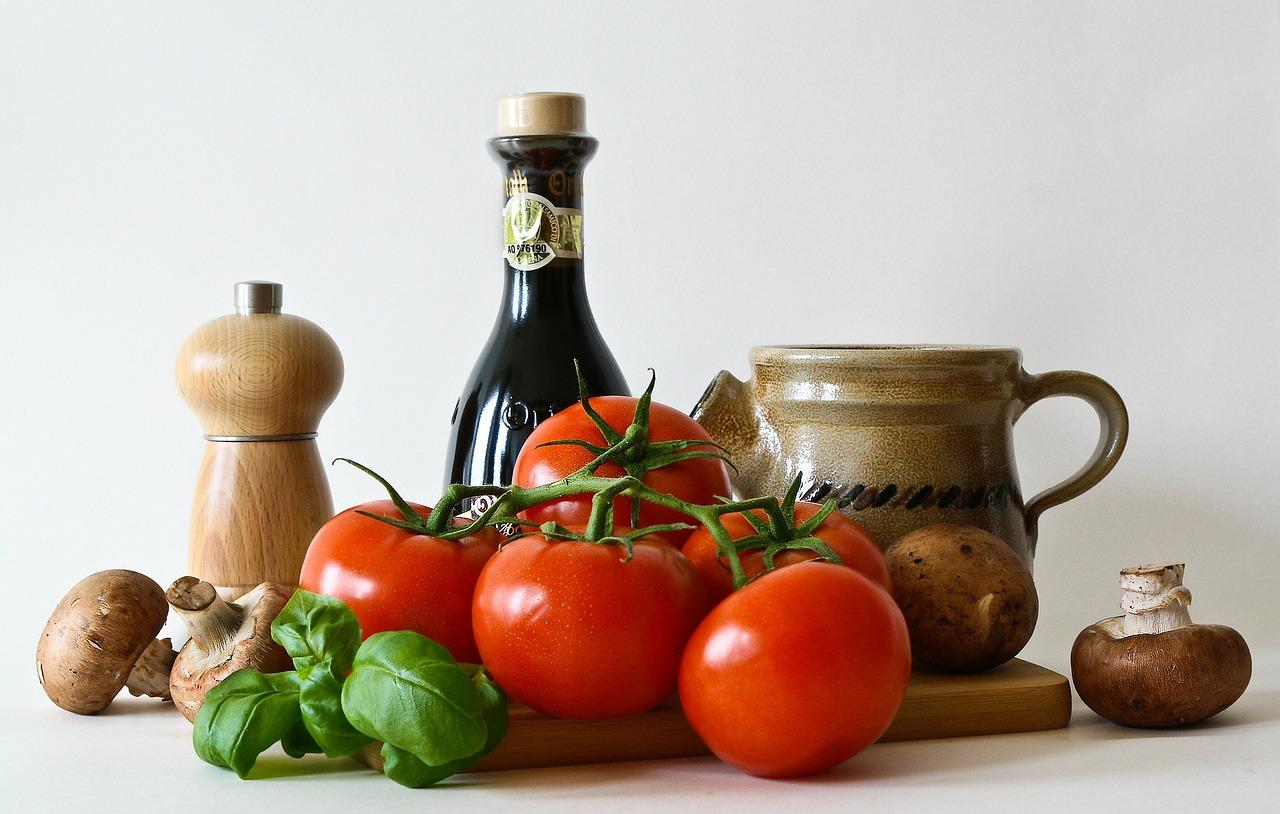 Lebensmittel in der Küche