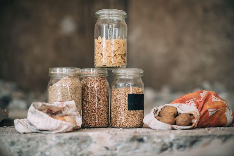 Zero Waste mit Verpackungseinsparung mit Einmachgläsern
