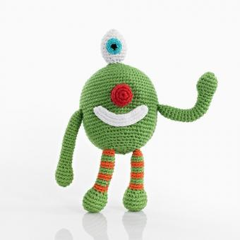 Babyrassel Chubby Monster von Pebble Cheeky green