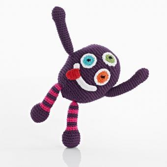 Babyrassel Chubby Monster von Pebble Silly purple