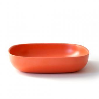 Bambusgeschirr GUSTO by EKOBO - Pasta Teller und Salatschale orange