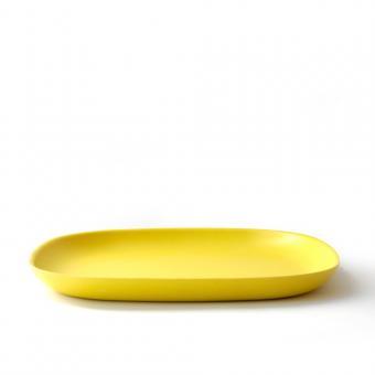 Bambusgeschirr GUSTO by EKOBO - großer Essteller gelb