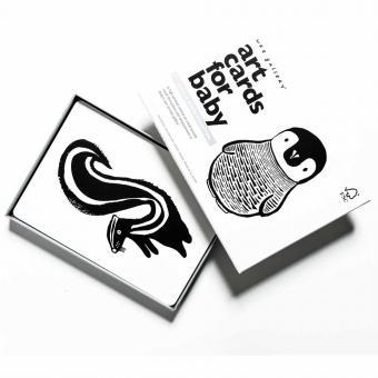 Bildkarten für Babys Schwarz Weiß
