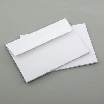 Briefumschläge A6, weiß ohne Fenster 5er Set