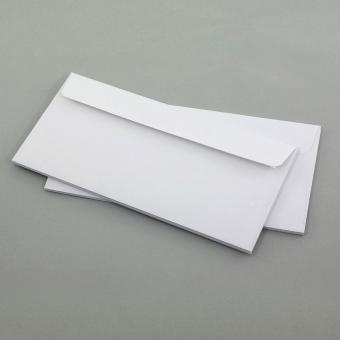 Briefumschläge DIN Lang, weiß ohne Fenster 5er Set