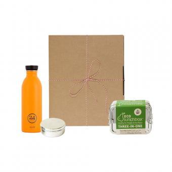 Geschenk-Set Eco-Lunchbox 3in1 total orange