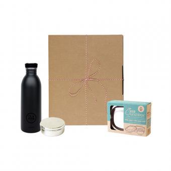 Geschenk Set Eco-Lunchbox oval tuxedo black