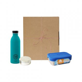 Geschenk Set Eco-Lunchbox Splash atlantic bay
