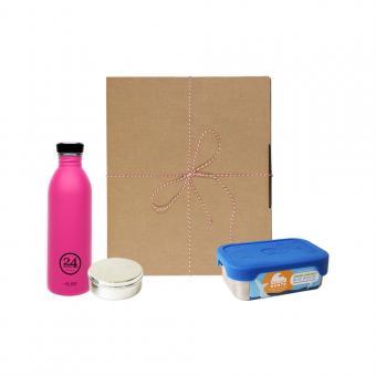 Geschenk Set Eco-Lunchbox Splash passion pink