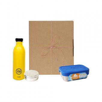 Geschenk Set Eco-Lunchbox Splash taxi yellow