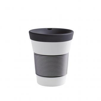 Kaffeebecher To Go aus Porzellan - Kahla anthrazit