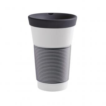 Coffee To Go Becher aus Porzellan - 0,47L anthrazit