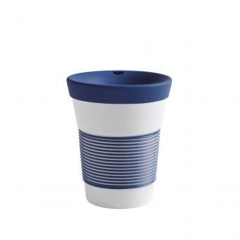 Kaffeebecher To Go aus Porzellan - 0,35L deep sea blue