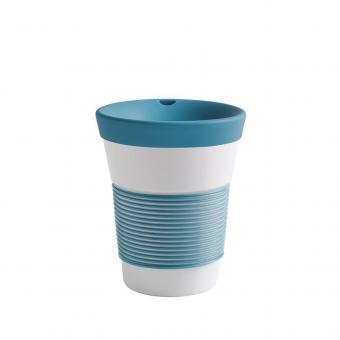 Kaffeebecher To Go aus Porzellan - 0,35L green lagoon