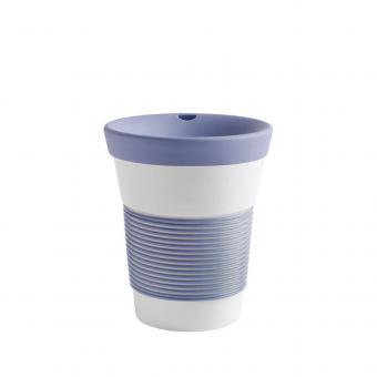 Kaffeebecher To Go aus Porzellan - 0,35L stormy blue