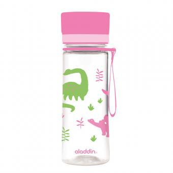 Kinder Trinkflasche AVEO von aladdin 0,35L rosa Dinos