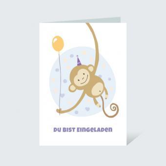 Einladungskarte DIN A6 Kindergeburtstag