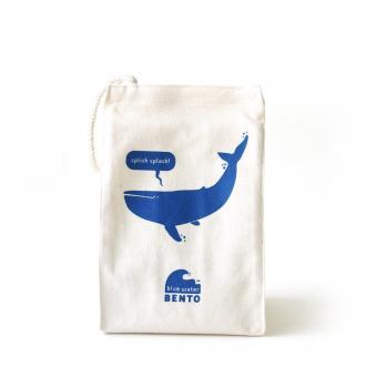 """Lunchbag Blue Water Bento """"Whale"""" von EcoLunchbox"""