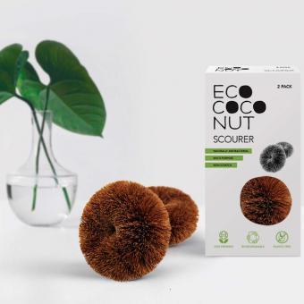 Plastikfreier Geschirr- und Topfreiniger 2er Set EcoCoconut