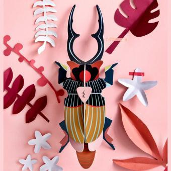 Wanddeko großer Hirschkäfer von Studio ROOF