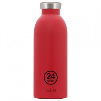 THERMO Trinkflasche Edelstahl CLIMA 0,5L von 24bottles hot red