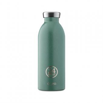THERMO Trinkflasche Edelstahl CLIMA 0,5L von 24bottles Moos Green Rover