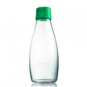 Glas Trinkflaschen von Retap 0,5L grün