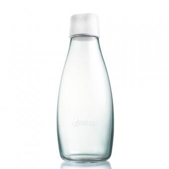 Glas Trinkflaschen von Retap 0,5L frost weiß