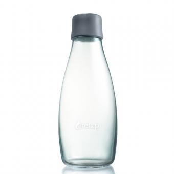 Glas Trinkflaschen von Retap 0,5L grau