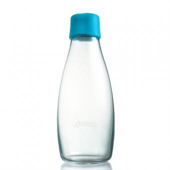 Glas Trinkflaschen von Retap 0,5L hellblau