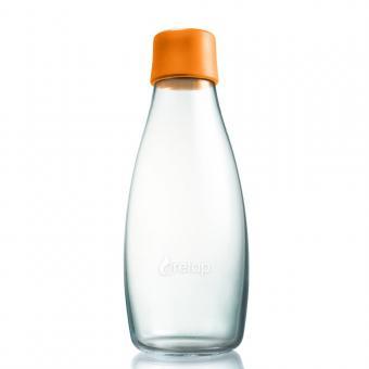 Glas Trinkflaschen von Retap 0,5L orange