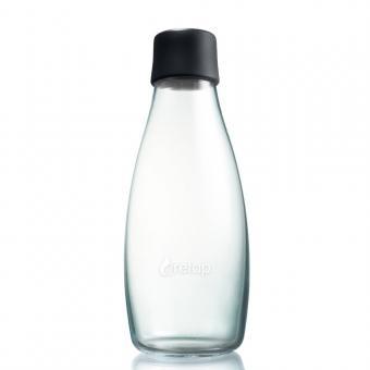 Glas Trinkflaschen von Retap 0,5L schwarz