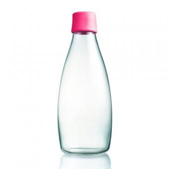Glas Trinkflasche von Retap 0,8L Neon Pink
