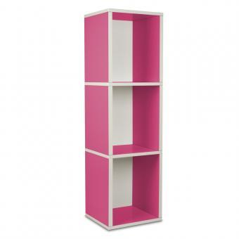 Modulares Regalsystem Cube Plus 3 von Way Basics pink