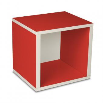 Modulares Regalsystem Cube von Way Basics rot