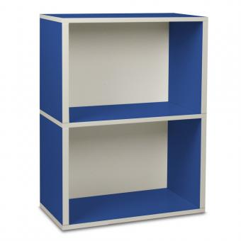 Way Basics Regal rechteckig Plus 2 blau