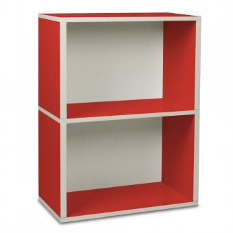 Way Basics Regal rechteckig Plus 2 rot