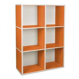 Bücherregal Tribeca von Way Basics orange