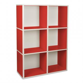 Bücherregal Tribeca von Way Basics rot