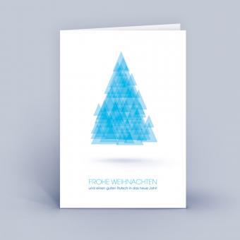 Weihnachtskarten A6 Baum aus Dreiecken