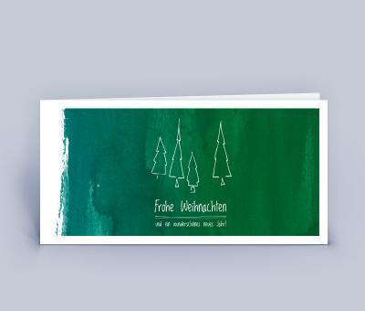 Weihnachtskarte DIN Lang Frohe Weihnachten Tafel 5er Set