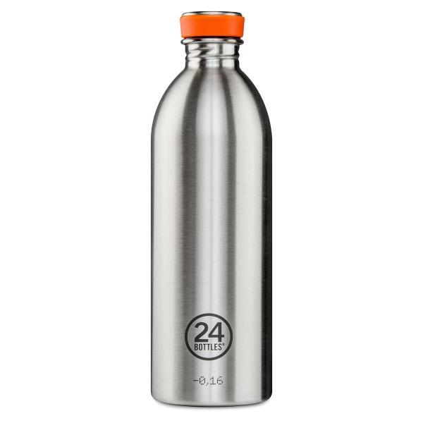 24Bottles Edelstahl Trinkflasche 1000ml Steel