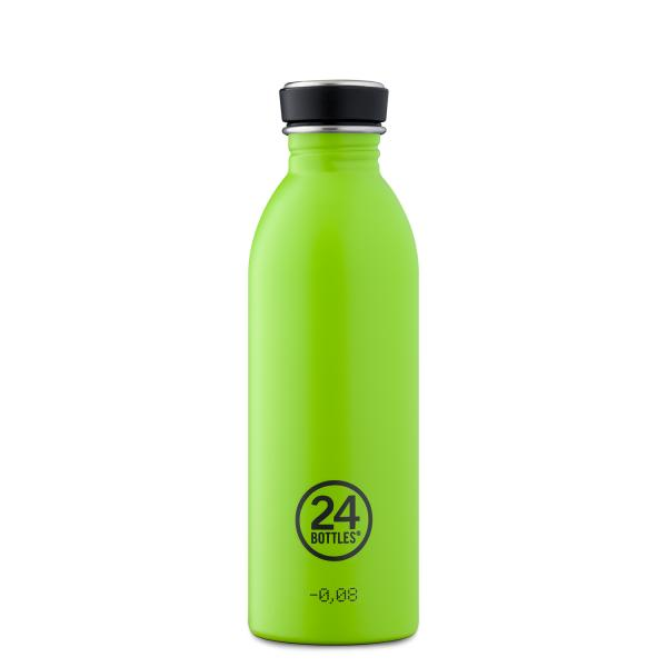 24Bottles Edelstahl Trinkflasche URBAN 500ml Lime Green